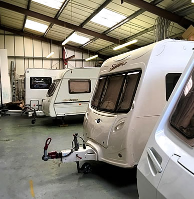 Caravan repairs workshop