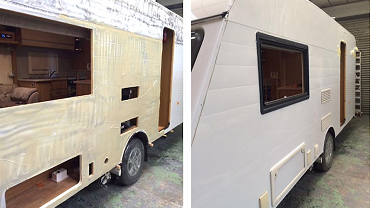 Caravan and motorhome refurbishment